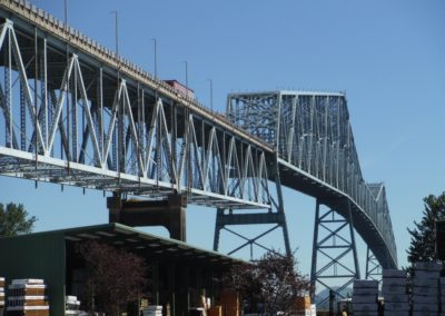 Conduit Supports on Lewis & Clark Bridge